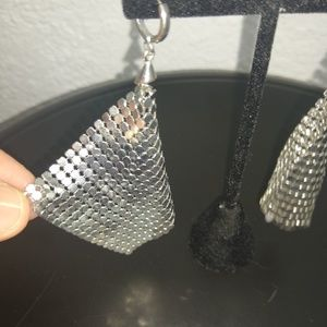 Mesh Fan Earrings
